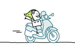 Femme sur le scooter Photos libres de droits