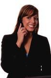 Femme sur le téléphone portable images stock