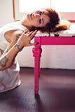 Femme tatoué Photo libre de droits