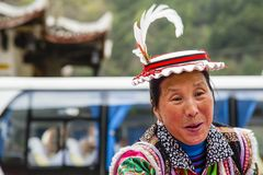 Femme tibétaine de sourire de clan de Whitehorse Image libre de droits