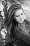 Femme timide Photographie stock libre de droits
