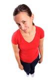 Femme timide images libres de droits