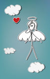 Coeur d'ange Photo libre de droits