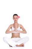 Femme tranquille méditant Image libre de droits