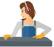 Femme travaillant au moulin d'acier-roulement Image stock