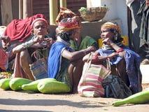 Femme tribal de Bonda sur le marché Image libre de droits