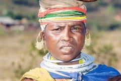 Femme tribal de Bonda sur le marché Photo libre de droits