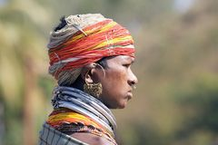 Femme tribale de Bonda Photographie stock