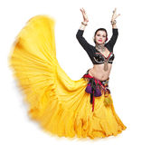 Femme tribale de danseur de beau ventre exotique images libres de droits