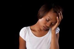 Femme triste Images stock