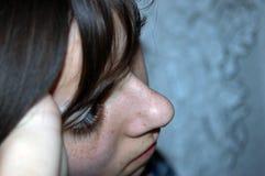 Femme triste Image stock