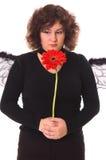 Femme triste avec la marguerite Photographie stock libre de droits