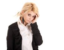 Femme triste d'affaires Image stock