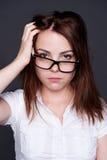 Femme triste et lasse Photographie stock libre de droits