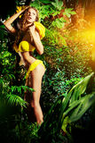 Femme tropical Photos libres de droits