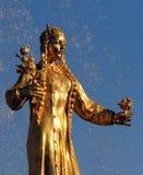 Femme Turkménistan de symbolisation - une partie de l'amitié de fontaine Photo libre de droits