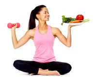 Femme végétale d'exercice