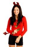 Femme Valentine de diable Photos stock
