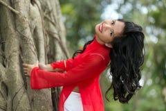 Femme vietnamienne avec du charme Photo stock