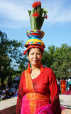 Femme vietnamienne, robe traditionnelle photos libres de droits