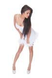 Femme vivace dans une robe de cocktail Images stock