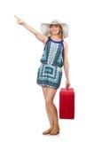 Femme voyageant l'été Images libres de droits
