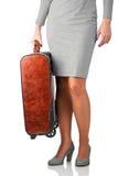Femme voyageant sur des affaires Images libres de droits