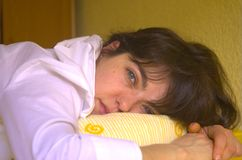 Femme Wide-awake. photographie stock libre de droits
