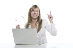 Femmes à l'ordinateur Photos stock