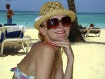 Femmes à la plage Photographie stock libre de droits