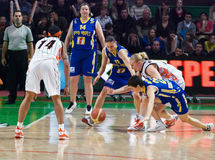 Femmes 2009-2010 d'EuroLeague. Image libre de droits