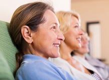 Femmes aînées heureuses Photos libres de droits