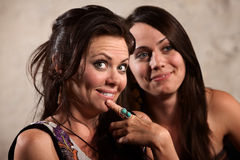Femmes admiratifs Photos stock