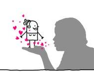 Femmes affectueux illustration de vecteur