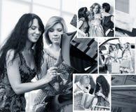 Femmes après l'achat Photos libres de droits