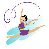 Femmes Art Gymnastics Workout Exercise de sports Photographie stock