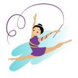 Femmes Art Gymnastics Workout Exercise Performance de sports Photo libre de droits