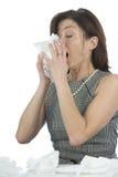 Femmes avec des allergies Images libres de droits