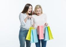 Femmes avec des paniers Photo stock