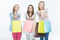 Femmes avec des paniers Images stock