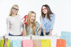 Femmes avec des paniers Photographie stock