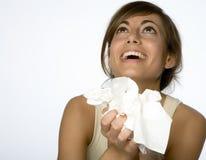 Femmes avec l'allergie Photos libres de droits