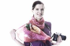 Femmes avec l'appareil-photo photographie stock