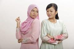 Femmes avec l'argument Photographie stock libre de droits