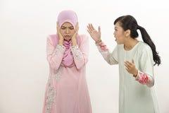 Femmes avec l'argument Image stock