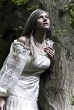 Femmes avec la robe de cru Images libres de droits