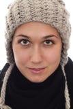 Femmes avec le chapeau et l'écharpe Photographie stock libre de droits