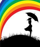 Femmes avec le parapluie Photos libres de droits