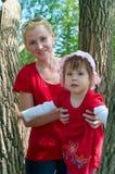 Femmes avec un petit enfant Photo libre de droits