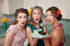 Femmes choqués Photos stock
